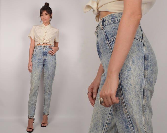 80s Acid Wash Skinny Jeans