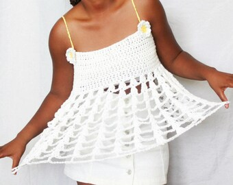 The Pushing Daisies Crochet Tank Pattern. Instant Download!