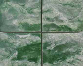 "Original Encaustic Painting - ""Emerald Green Sea No. 1"""