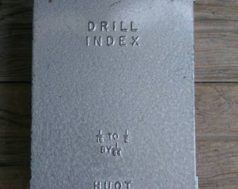 "Vintage Huot Drill Index 1/16"" to 1/2"" by 1/64"" Complete Set"