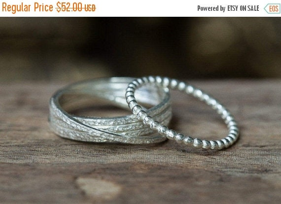 SPRING SALE Silver Rings Russian Wedding Ring Thin Silver