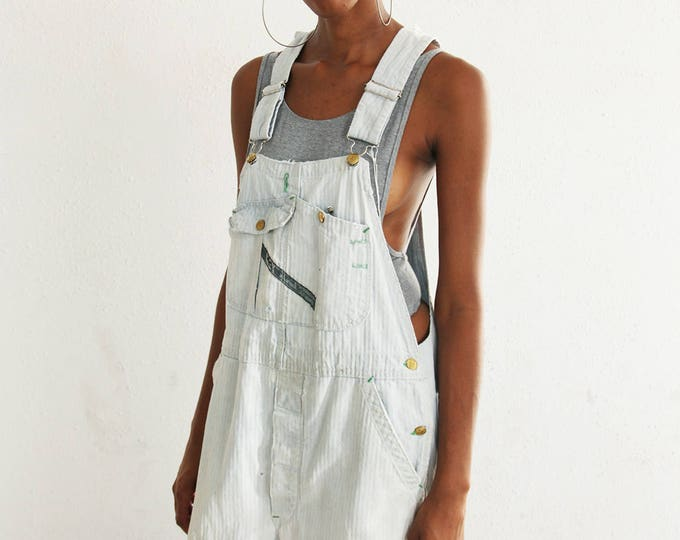 Faded Herringbone Overalls