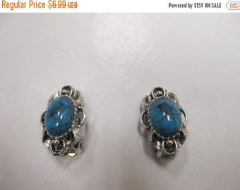 ON SALE Faux Turquoise Earrings Item K # 1701