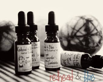 1 ounce (three) Large Samplers - Set of 3 glass bottles with dropper - multipack of dryer ball oils, aromatherapy scents, oil jewelry refill