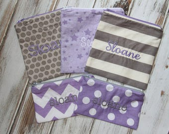 Reserved - Custom Order Reusable Snack / Sandwich Bags with Zipper Closure