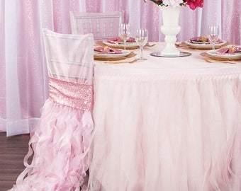 Blush  Tutu and and Tablecloth - Custom reserved for