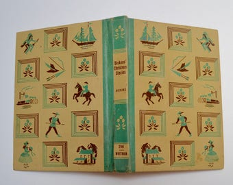 vintage childrens book: Christmas Stories by Charles Dickens includes A Christmas Carol, The Chimes, The Cricket on the Hearth / Whitman