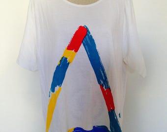 Vintage Neon Art Miyo 80s Tshirt