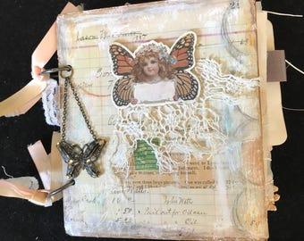 Handmade Art Journal, Junk Journal, Scrapbook for memories, travel, planning, gratitude journal