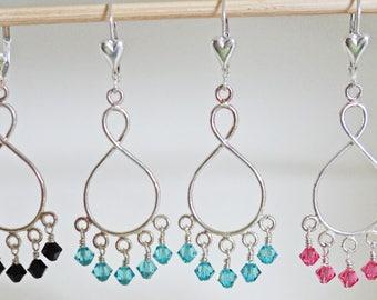 Swarovski Sterling Silver Chandelier Earrings