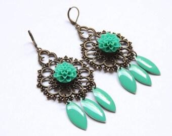 Earrings - Emerald
