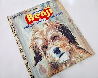 Little Golden Book / Benji The Fastest Dog in the West / Vintage Childrens Book / Vintage Books / 1978