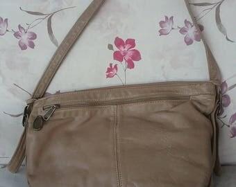 Stone Mountain Tan Leather Shoulder  Bag