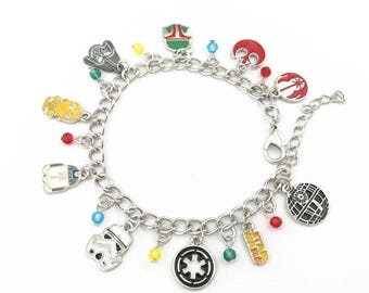 Star Wars inspired charm bracelet