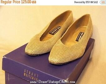 60% OFF Clearance Sale Stuart Weitzman Pumps Shoes sz 6 B Cream & Gold