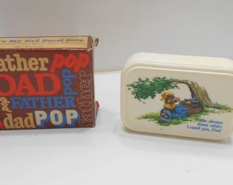Vintage 1983 Avon That's My Dad Decal Soap (3) Nerver Used