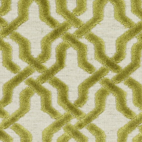 Chartreuse Velvet Upholstery Fabric Yellow Green Fabric for