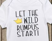 Wild Things Onesie, Where the Wild Shirt, Wild Baby, Funny Onesie, Cute Baby Shirt, Max Onesie, Pregnancy Reveal, Gender Reveal, Baby Gift