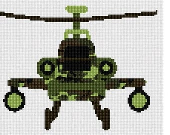 Needlepoint Kit or Canvas: Army Toy Helicopter