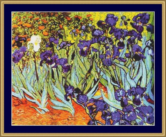 Irises Cross Stitch Pattern /Digital PDF Files /Instant downloadable