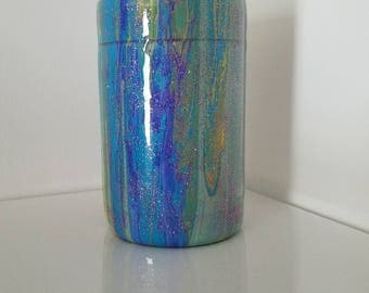 Insulated can or bottle cozie metal dirty pour one of a kind gift for anyone custom
