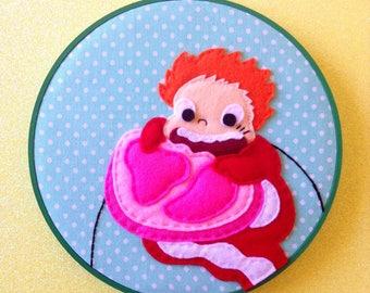 Ponyo Embroidery