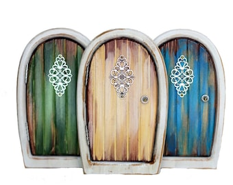 Shabby Chic Fairy Door for Home and Garden