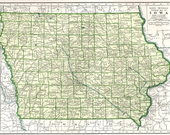 Iowa Map Etsy - State of iowa map