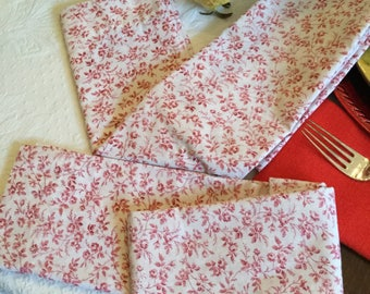 Two Gorgeous Red and White Roses Standard Pillow Cases/Covers/Bedding