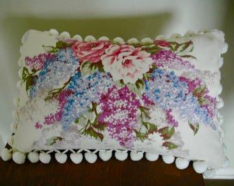 """Vintage Floral Chintz Pillow - """"Sweet Bouquet"""""""