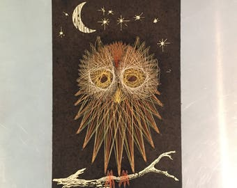 Retro Owl String Art 11x18