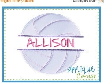 40% OFF INSTANT DOWNLOAD Volleyball Split applique digital design for embroidery machine by Applique Corner