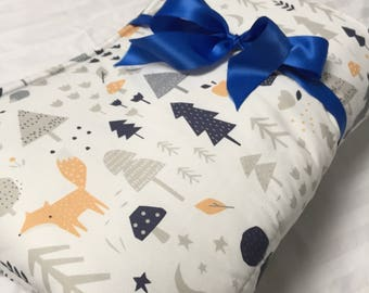 Organic, Padded, Baby Play Mat, Woodland, Animal, Floor Mat, Deer, Owl, Fox, Bird, Activity Mat, Nursery, Bedding, Baby Quilt, Baby Gift