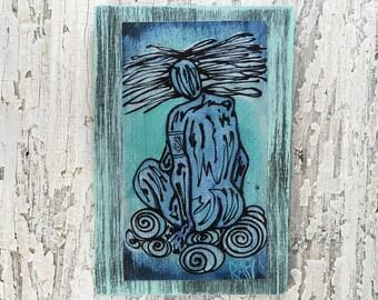 Air Elemental Wall Art by artist Rafi Perez Original Artist Enhanced Print On Wood