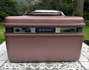 Samsonite Silhouette/Makeup Case/Samsonite Train Case/Overnight Travel Bag/Retro Craft Storage/ Wedding Decor/Photo Prop/Includes 2 KEYS
