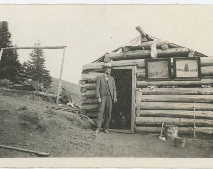 Frances Cook Cabin Original Camp Mt. Spokane, WA c1910s: Vintage Snapshot Photo (77595)
