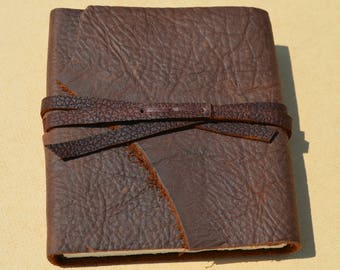 Leather Pocket Journal Handmade Journal Leather Bound Poetry Diary Ready to Deliver Field Notebook Boy Scout Journal Camp Diary (672B)