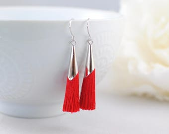 The Delia Earrings - Red