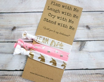 White/Pink/Gold/Silver Bridesmaid Gift 3 pcs gift set - Plan with Me, Laugh With Me, Cry with Me- Bachelorette Party/Wedding/Bridesmaid GIft
