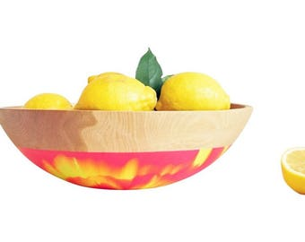 "15"" Beech Wood Bowl by Willful 