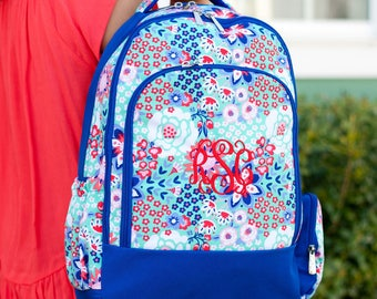 Garden Party Backpack - Includes Embroidery Personalization - Garden Party - Floral Backpack - Back to School - Backpack