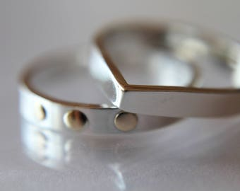 Teardrop Ring, Stacking Rings, Modern Rings, Silver Geometric Rings, Simple Modern Rings, Open Teardrop Ring, Minimalist Jewelry,Simple Ring