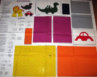 Cut and Sew TOYS Fabric Panel DIY Pillow Pattern craft