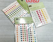 RETIRED (USED)- Stampin' Up! Regals Candy Dots/Subtles Candy Dots/ It's My Party Enamel Dots Embellishments