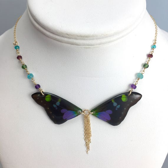 STEVE ONLY Custom Graphium weiskei Bow-tie Necklace