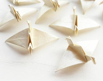 20 mini paper origami cranes - wedding favours - wedding decoration - party decor - custom wedding
