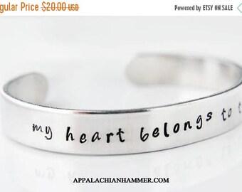"""WEEKEND SALE My Heart Belongs To The Wild 3/8"""" Aluminum Cuff Bracelet"""