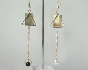 Regalite Asymmetric Earrings Restoring Ancient Ways, Stackable Earrings, Charm Earrings 0477