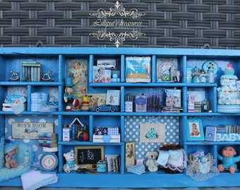 "Mini  thematic library "" IT'S A BOY"" OOAK"