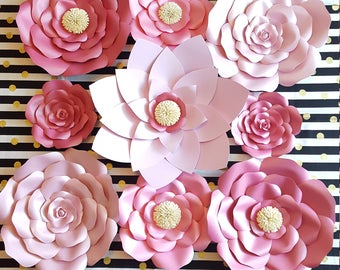 Pink Paper Flowers,